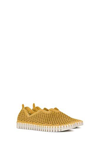 ILSE JACOBSEN HORNBÆK   Flache Damen-Schuhe   Slip-On Sneaker mit Recyceltem Mikrofaser-Material und Rutschfester Natur-Gummisohle   Tulip3275   Leicht Atmungsaktiv Umweltfreundlich   Yellow   36
