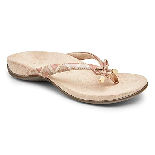 BAIMILI Women's Orthotic Flip Flops Womens Sandals with Arch Support Soarfree Plantar Fasciitis Feet Summer Beach Sandals Pink-42