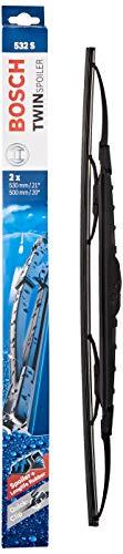 Escobilla limpiaparabrisas Bosch Twin Spoiler 532S, Longitud: 530mm/500mm – 1 juego para...