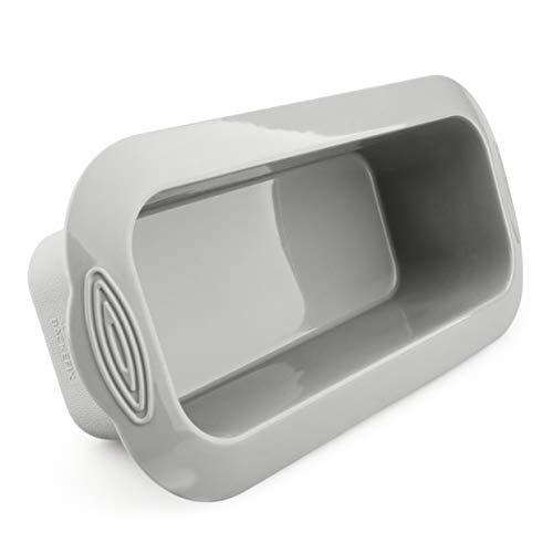 Backefix Brotbackform für 1000g Brote - das Original - Reckteckige Antihaftende Kastenform - BPA frei, grau 26cm, 2l Volumen