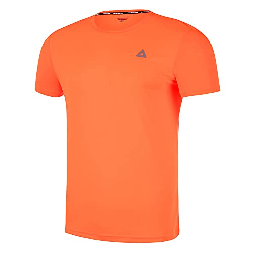 Airtracks Funktions Kurzarm Comfort Line Laufshirt Running T-Shirt - orange - XL