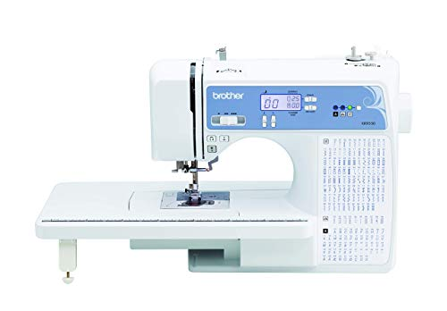 Brother Sewing and Quilting Machine, Computerized, 165 Built-in Stitches, LCD Display, Wide Table, 8 Included Presser Feet, white (Renewed)