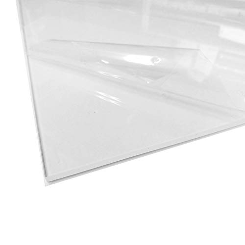 3/16' Plexiglass 40 x 48 inch Clear Acrylic Sheet for Sneeze Guard Hanging Germ Barrier Panel Face Shield in Retail, Office, Reception, Desk, Customer & Employee Cough Protection, Easy to Sanitize