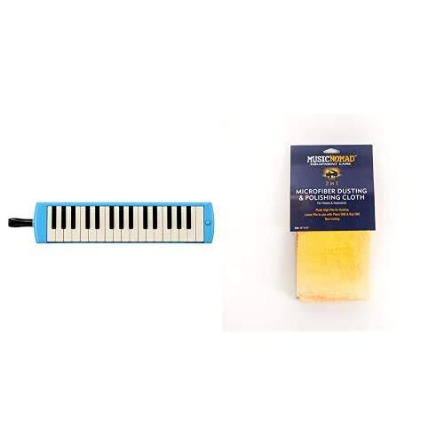 YAMAHA 鍵盤ハーモニカ 32鍵 P-32E BLU + MUSIC NOMAD ピアノ&キーボード用 リバーシブルクロス MN230 セット