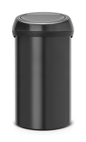 Brabantia 402562 Poubelle Touch Bin, 60 L - Noir mat