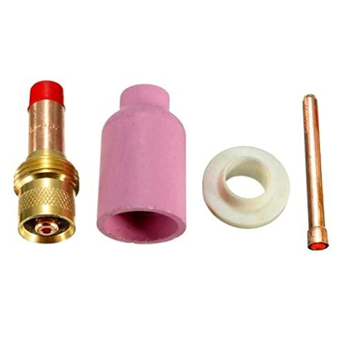 Milageto Paquete De 4 Boquillas De Cerámica TIG Stubby Gas Lens & Kit De Copa Para WP-17/18/26