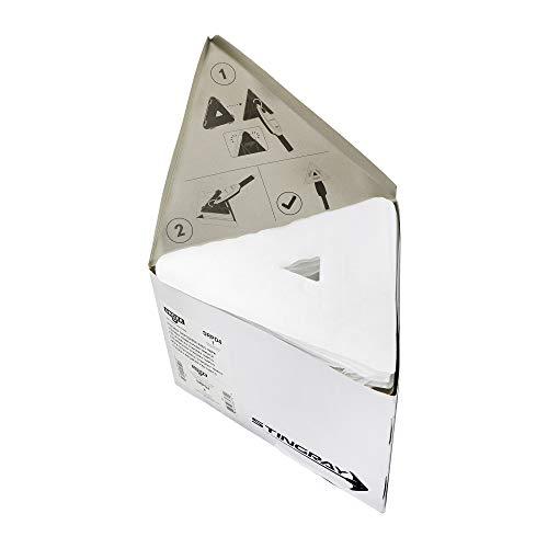 Unger Quik Pads für Fensterreiniger Stingray Set 160 OS (100 Stück, für glatte Oberflächen + Fenster, 54% Polyester / 46% Viskose, Reinigungstücher) SRPD4