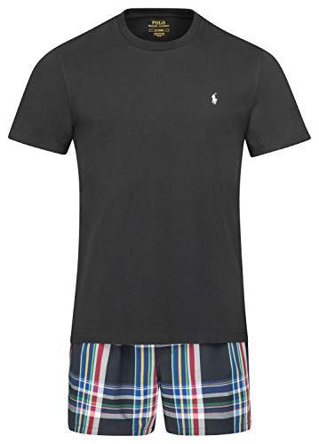 Ralph Lauren - Juego de calzoncillos y camiseta para hombre, color negro Negro XXL