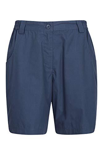 Mountain Warehouse Quest-Damen-Shorts - Sommerhose aus 100% Baumwolle, leicht, mehrere Taschen - optimal zum Wandern und Picknicken, für Urlaube Marineblau 40