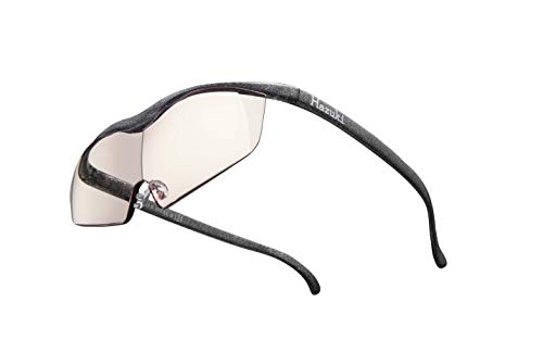 Hazuki ハズキルーペ 直営店 公式店 限定 倍率交換保証付き ラージ 1.6倍 カラーレンズ ブラックグレー ハズキ 拡大鏡 ルーペ メガネ型 眼鏡型 めがね型 メガネ 眼鏡 めがね 日本製 MADE IN JAPAN ギフト