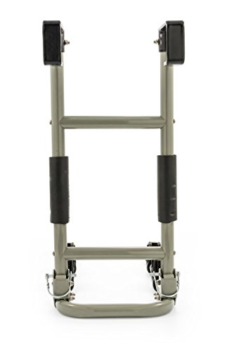 Camco RV Ladder Mount Bike Rack - Easily Installs on Standard RV Ladders, Holds Two Bikes at Once, Folds for Convenient Storage (51492) , Black