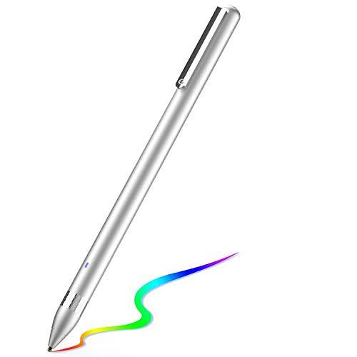 Active Stylus Stift für sämtliche Touchscreens. Wiederaufladbarer Eingabestift Pencil mit 1,45mm feiner Spitze, der kapazitive Stylus ist kompatibel für Apple iPad, iPhone und Samsung Tablets…