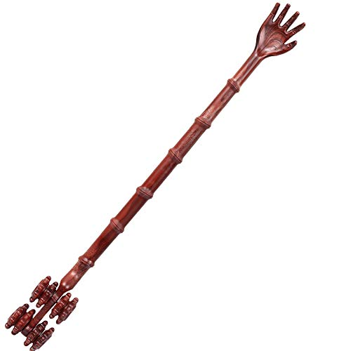 Laifugo CS-14 16.5' Long Back Scratcher, Wood-Like Back Scratcher Massager with Four Ball Rolling...