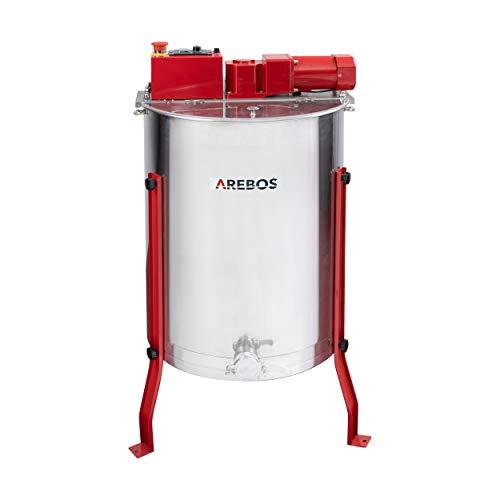 Arebos Elektrische Honigschleuder 4 Waben Schleuder 4 -Frame-Extraktor Honigschleuder aus Edelstahl