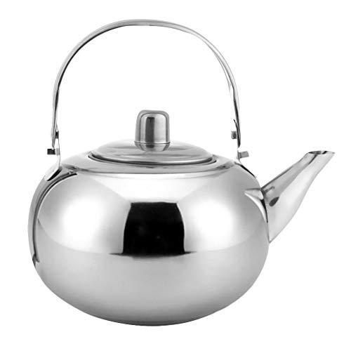 Lounayy Edelstahl Wasserkocher Teekanne Kaffeekanne Silber Gold Gold 2L Geeignet Style Teekanne Bequem Wärmer Vintage Orientalisch Design Style (Color : Silber, Einheitsgröße : 1.5L)