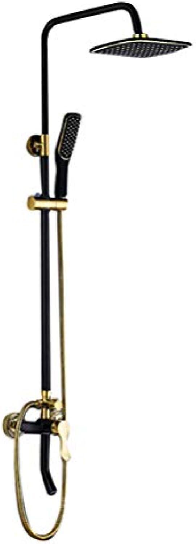 Duschset Continental Schwarz Kupfer Badezimmer Druck Duschkopf Antik Wasserhahn