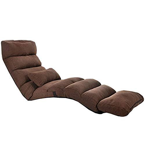YQWYS Spielzeug Tasche Haushalt Weiches Faules Sofa Komfortables Einstellstuhl Modernes Schlafsofa Lounge Wohnzimmer Liegen Stuhl Falten Einstellbar Schlafsofa,Brown