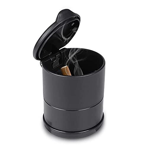 Republe Portátiles de Cigarrillos sin Humo Tubular Coche Cenicero Ceniza