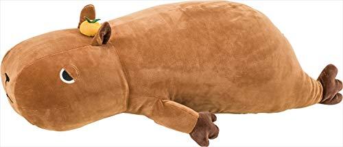 りぶはあと 抱き枕 プレミアムねむねむアニマルズ カピバラのだいず Lサイズ(全長約68cm) ふわふわ もちもち 58208-34
