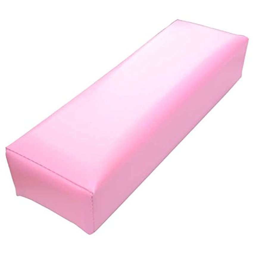 セマフォエトナ山掘る低反発 クッション 素材 ネイル用 アームレスト D9cm×W30cm×6cm ソフト ピンク 腕枕 手枕