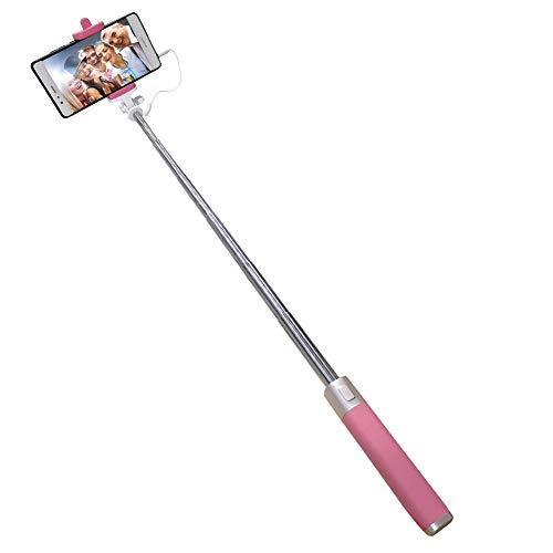 Copay Bastone Selfie Universale con Filo Compatibile con Huawei P8 P9 P10 P20 Lite P30 PRO P Smart Portatile Asta Selfie [No Batteria e Bluetooth] Regolabile Telescopico Autoritratto Monopiede, Rosa