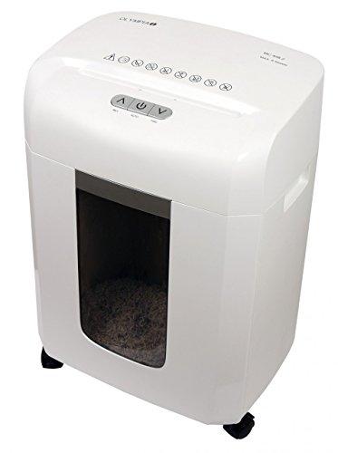 Olympia MC 408.2 micro-cut Shredding, 65dB wit papiervernietiger - vernietigend papier (micro-cut shredding, 22 cm, 16 l, 65 dB, knoppen, 4 wiel (S))