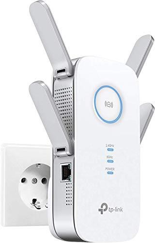 TP-Link RE500 AC1900 WLAN Repeater (Dual WLAN AC+N, 1900 Mbit/s, WLAN Verstärker, 3x 3 MU-MIMO, Gigabit LAN, WPS, AP Modus, 4x flexible externe Antennen,geeignet für alle WLAN-Geräte) weiß