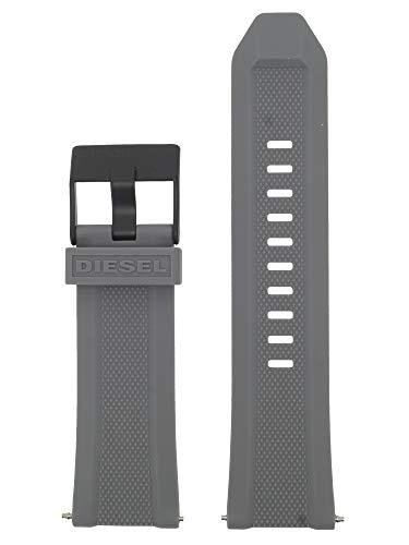 Diesel LB-DZ7416 - Correa de repuesto para reloj (caucho, 26 mm), color gris