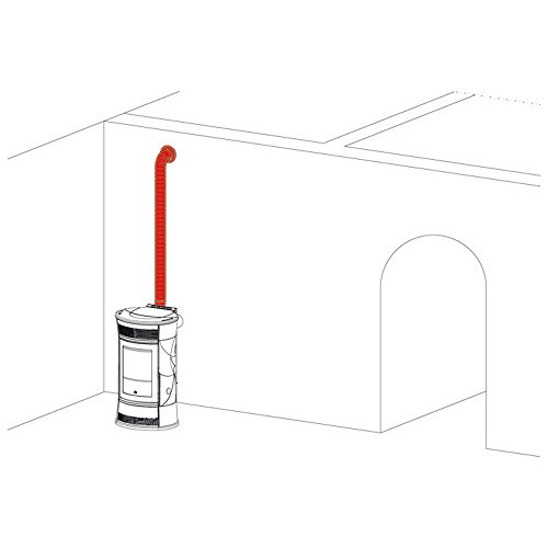 EDILKAMIN Kit Canalización Aire Caliente para Estufa de Pellets Art. 772830Kit 11