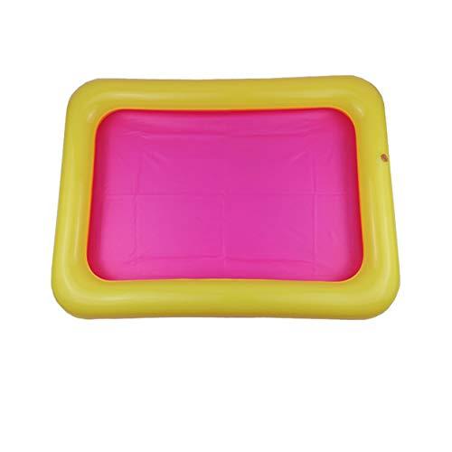 MXECO Bandeja de Arena Inflable Castle Mesa móvil Caja de Arena de PVC Bandeja sensorial Divertido Juego de Interior Bandeja de Piscina para niños