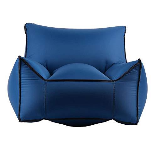 anruo Faltbarer aufblasbarer Stuhl für das Strand-Garten-Kampieren im Freien groß