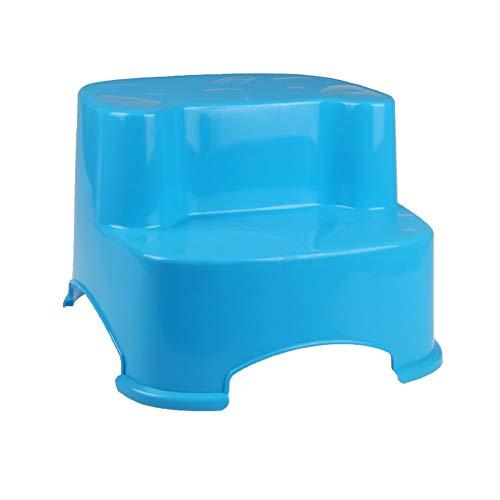 Taburete de paso Utilidad Pequeño Pie taburetes for Ki entrenamiento insignificante Inicio de plástico 2 Escalera plegable de heces for niños pequeños baño infantil antideslizante Reposapiés ** (Color