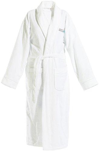 PEARL basic Microfaser-Bademantel: Bademantel aus Baumwoll-Frottee, weiß, Gr. S (Bademantel für Sauna, Wellness)