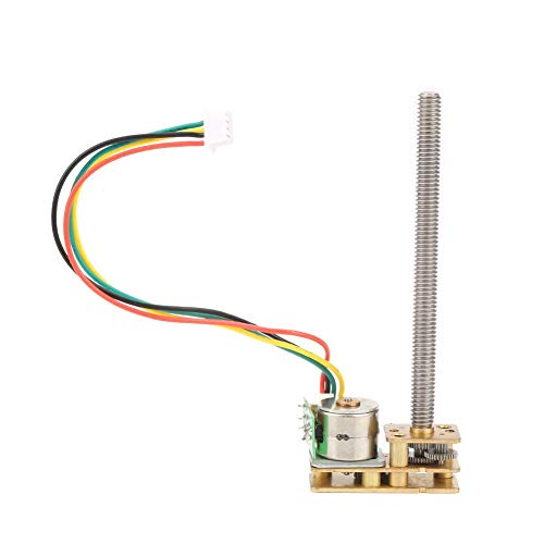 Micro Stepper Motor, Stepper Motor GM1024BY10-M455 2-Phase 4-Wire All-Metal Gear Stepping Reduction Motor DC 5V with Ribbon Cable(DC5V 15RPM)