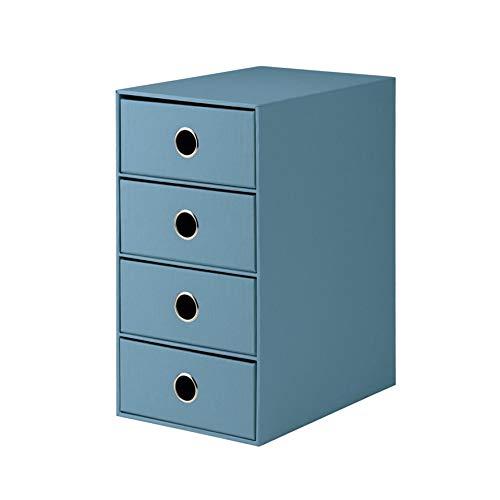 Rössler 1524452154 - S.O.H.O. 4er Schubladenbox für DIN A5, mit Griffloch, Denim