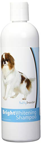Healthy Breeds Dog Bright Whitening Shampoo for Japanese Chin - for White, Lighter Fur – Over 150 Breeds – 12 oz - with Oatmeal for Dry, Itchy, Sensitive, Skin – Moisturizes, Nourishes Coat