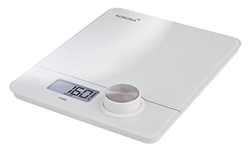 Korona 76160 balance de cuisine électronique Pia   sans pile et écologique grâce au Power Botton   blanc   numérique