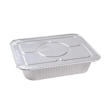 A World of Deals 9 X 13 Half Size Deep Foil Steam Pans with Lids, 30 Pack