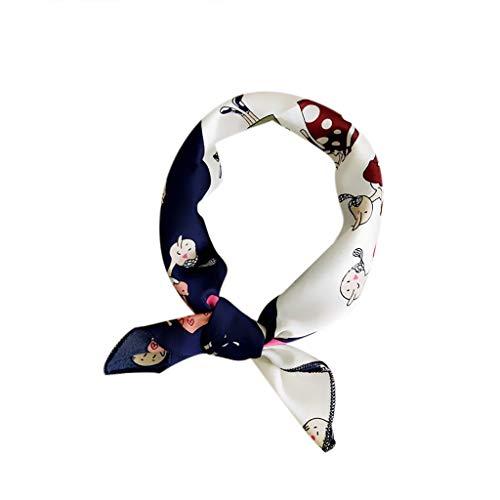 TUDUZ Pañuelo De Cabeza Cuadrada Envuelve Bufandas Impreso Cintas