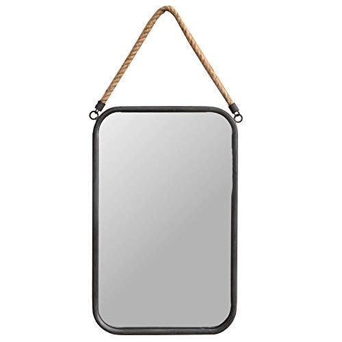 chemin_de_campagne Miroir Industriel Rectangle Corde Fer Gris 51.50 cm x 33 cm