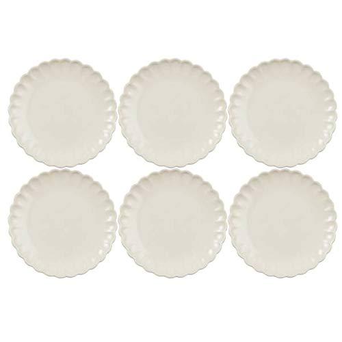 CREAFLOR HOME 6er Set Kuchenteller MYNTE Butter Cream D. 19,5cm cremeweiß Ib Laursen