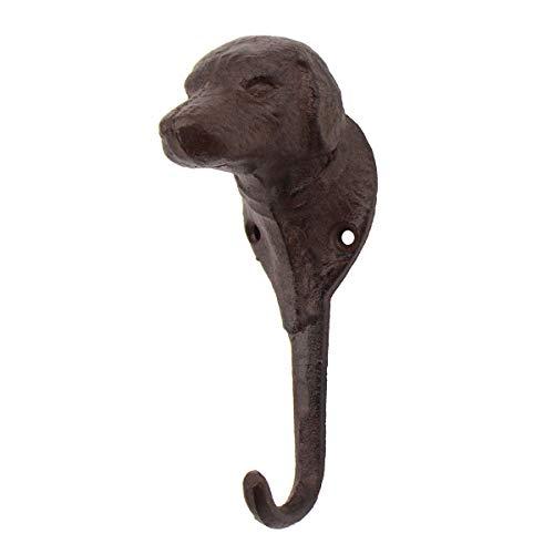 Gancho de pared para perro, diseño vintage con cabeza de perro, ideal para colgar en el jardín