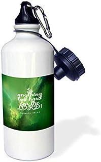 Queen54ferna Genesis Biblia Cita de Genesis en Fondo gráfico, Botella de Agua de Aluminio para Deportes, Senderismo, Gimnasio, Escuela, Camping, Botella de Agua para Hombres, Mujeres, niños