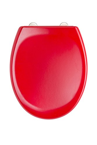 EISL WC Sitz, Duroplast, Rot, mit Absenkautomatik und Schnellverschluss, ED69310R