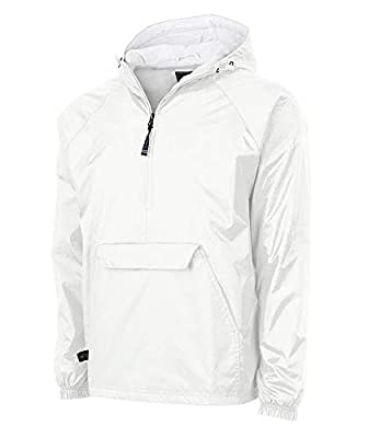 Charles River Apparel Wind & Water-Resistant Pullover Rain Jacket (Reg/Ext Sizes), White, L from Charles River Apparel Men's Outerwear