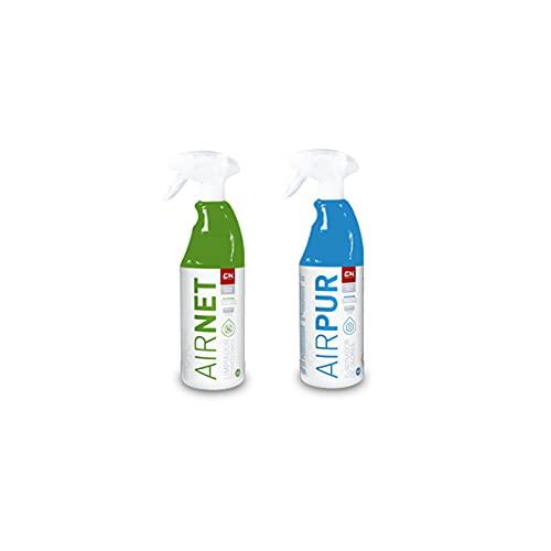Recamania AIRNET + AIRPUR Pulverizadores Limpiador y Elimina olores Aire Acondicionado 750 ml