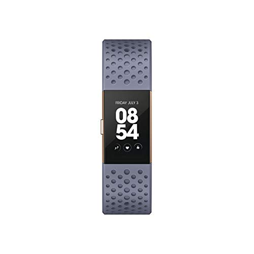 Fitbit FB407RGGYS-EU Charge 2 - Pulsera, Color Gris y Azul