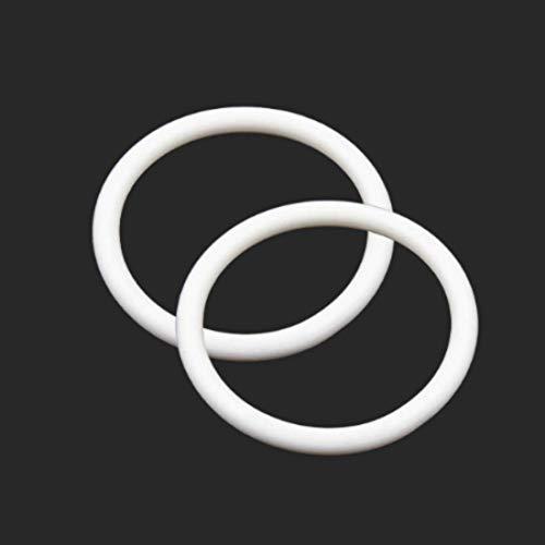 5 Pcs Weiße O-ringe 70mm x 3mm | Silikon - SI Dichtungsringe Dichtung Gummidichtung Oring 70x3 HÄRTE 70 ShA| Dichtungen Gummiringe Set | O-ringe Sortiment | Dichtungssatz Sanitär