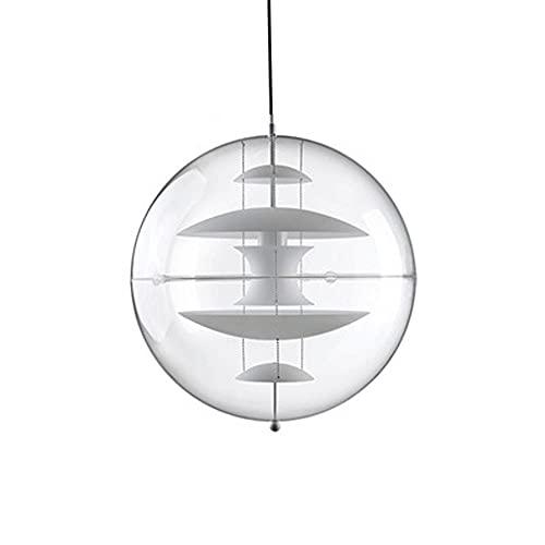 Luz colgante de cristal, cuerpo de lámpara en forma de globo + Lámparas colgantes de hierro forjado, accesorio de iluminación LED, luces de suspensión esférica danés para sala de estar, comedor