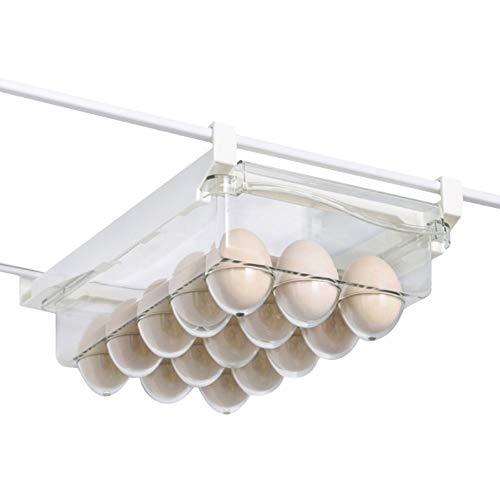 Keilafu organizador nevera, cajones nevera, El estante transparente de la caja de almacenamiento del huevo de la comida del refrigerador, saca el tenedor del estante del refrigerador para los huevos